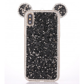 iPhone X Bling Mouse Ears Case