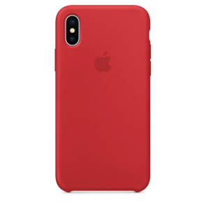 iPhone X Silicone Case - Red
