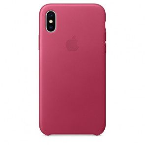 iPhone X Leather Case - Pink Fuchsia