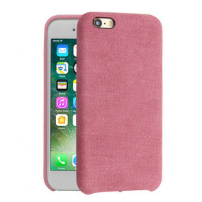 Alcantara Cover for iPhone 8 / 7 / 6 Plus - Light Pink