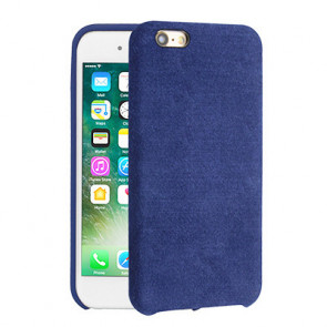 Alcantara Cover for iPhone 8 / 7 / 6 Plus - Dark Blue