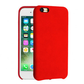 Alcantara Cover for iPhone 8 / 7 / 6 Plus - Red