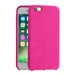 Alcantara Cover for iPhone 8 / 7 / 6 - Dark Pink