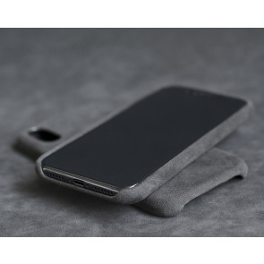 Alcantara Grey Case for iPhone X