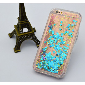 Moving Glitter Hearts Soft TPU Case for iPhone 7 Plus