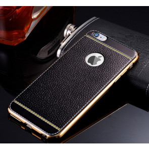 Metal and Leather Elegant Case for iPhone 7 Plus