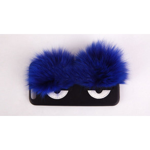 Monster Eyes Fur Leather Case for iPhone 6 6s Plus