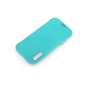 Rock Elegant Slide Flip Sky Blue Case for Galaxy S4
