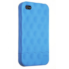 Hard Candy Soft Touch Blue Bubble Slider Case for iPhone 4