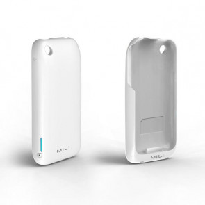 Mili Power Skin PowerSkin White Battery Case for iPhone 3GS &3G