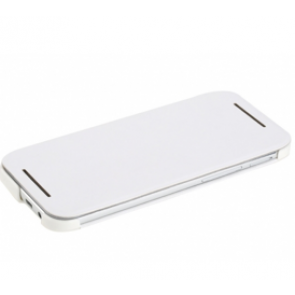 Rock Elegant Leather HTC One M8 Flip Stand Case White