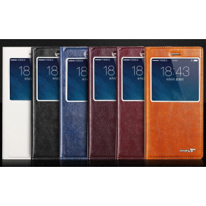 Kindtoy HD Window View Flip iPhone 6 4.7 inches Leather Case with Suction Cup