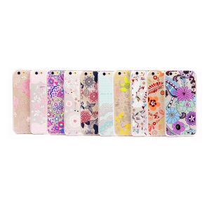 Ultra Thin Cute & Elegant Wonderland Flower Pattern iPhone 6 4.7 Jelly TPU Case