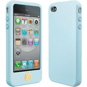 SwitchEasy Colors Pastels Baby Blue Silicone Case for iPhone 4