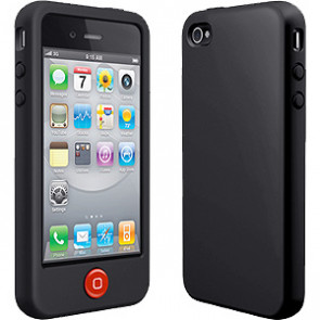 SwitchEasy Colors Silicone Stealth Black Case for iPhone 4