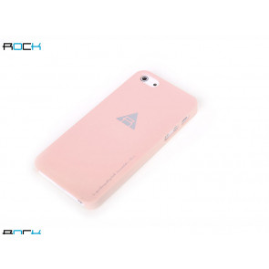 Rock Naked Shell Series Back Cover Snap Case for iPhone 5 - Pink