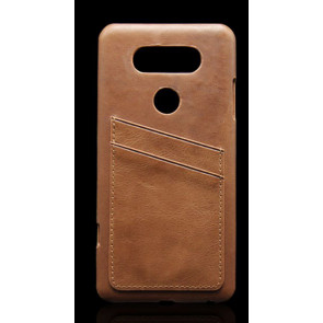 Leather Back Card Holder Case for LG V20