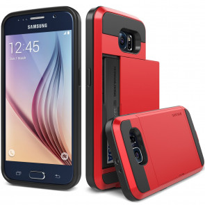 Verus Red Galaxy S6 Case Damda Slide Series