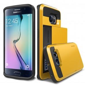 Verus Yellow Galaxy S6 Edge Case Damda Card Slide Series