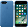 Leather Case for Apple iPhone 7 / 8 Plus Sea Blue