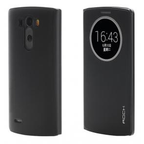 LG G3 Rock Quick Circle Leather Case Black