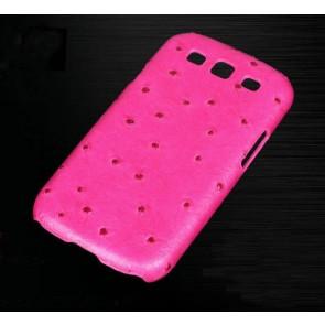 Vivi Design Handmade Pink Ostrich Leather Case for Samsung Galaxy S3