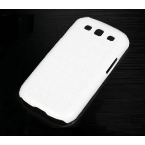 Vivi Design Handmade Premium White Crocodile Leather Case for Samsung Galaxy S3