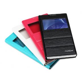 Leather Window View Flip Rock Case for Sony Xperia Z2